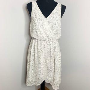 H&M Women's Wrap Sleeveless Midi Pattern Dress